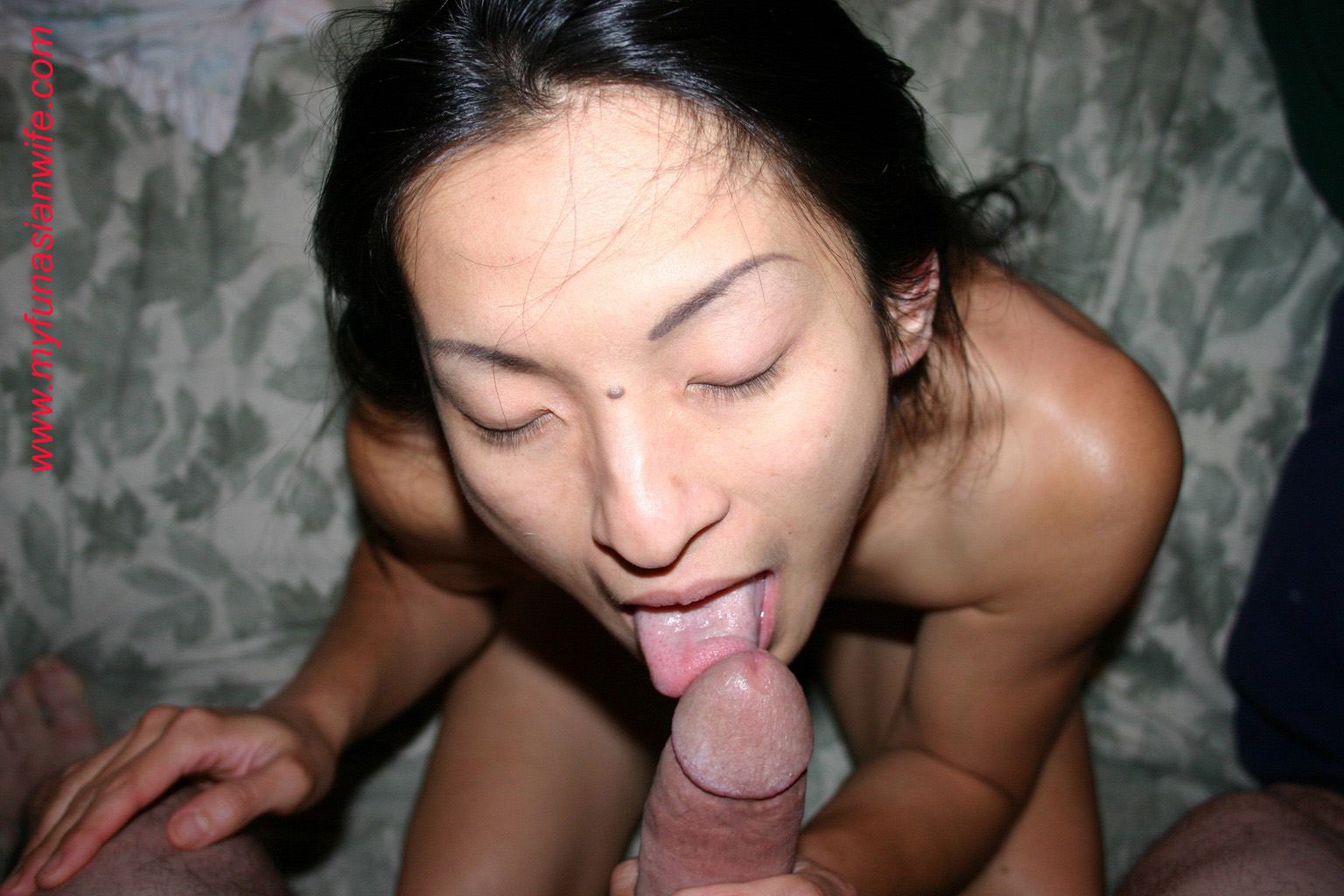 My wife licking my knob amp sucking my uncut cock